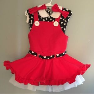 SC WEISSMAN MINNIE MOUSE Girl's DANCE OUTFIT